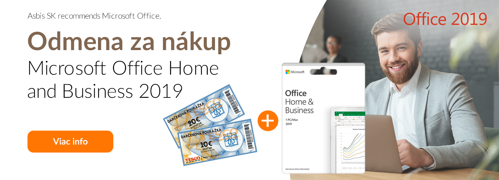 Odmena za nákup Microsoft Office Home and Business 2019