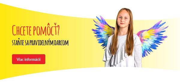 Staňte sa pravidelným darcom. Kliknite na odkaz a budete presmerovaný na stránky Dobrého Anjela.
