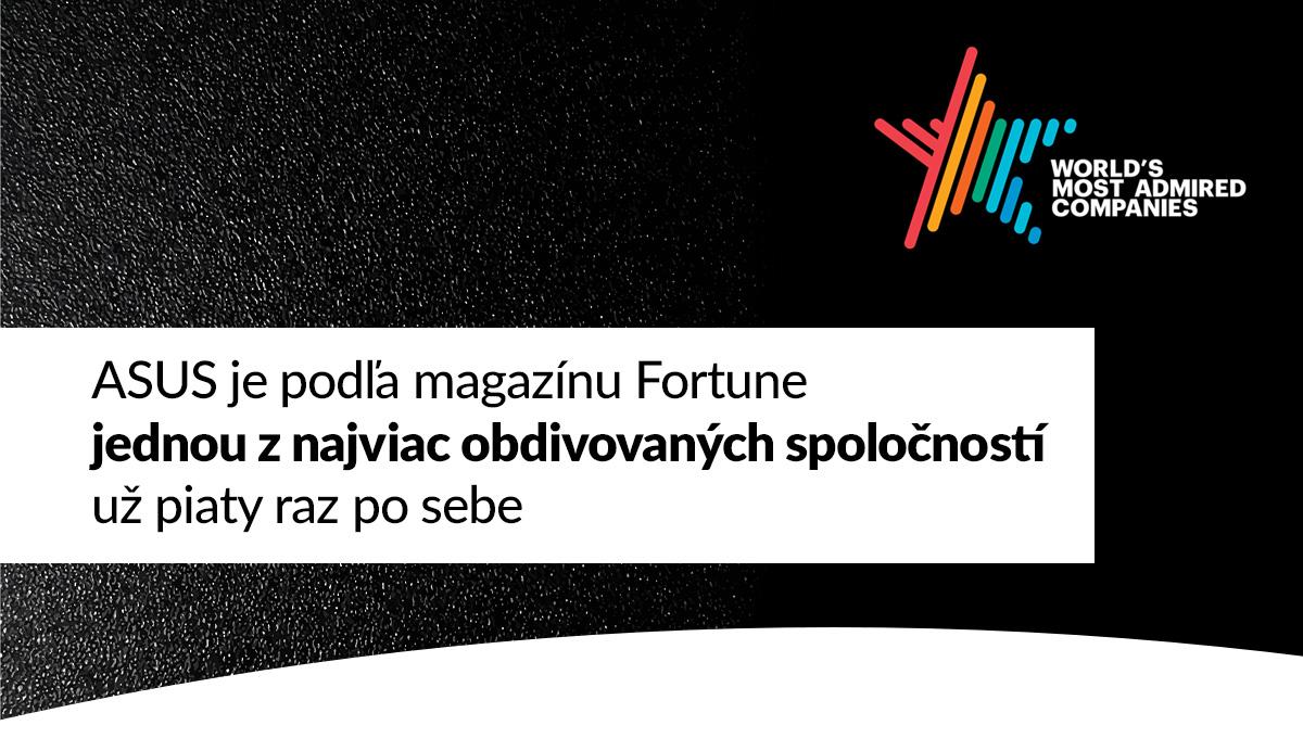 ASUS je podľa magazínu Fortune jednou z najviac obdivovaných spoločností už piaty raz po sebe