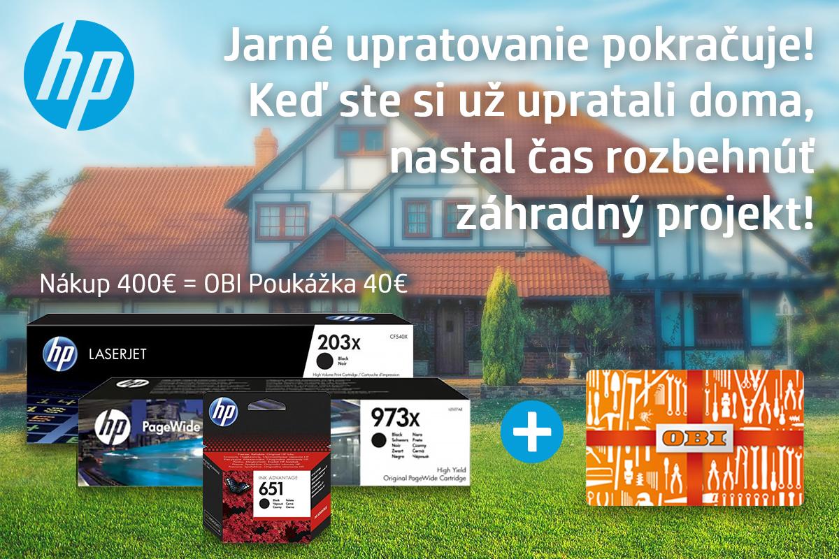 HP - OBI poukážka