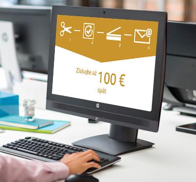 Získajte až    100 €    späť