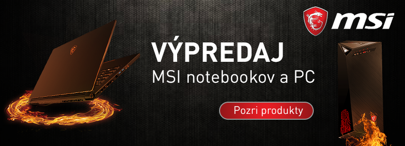 Výpredaj MSI notebookov a PC